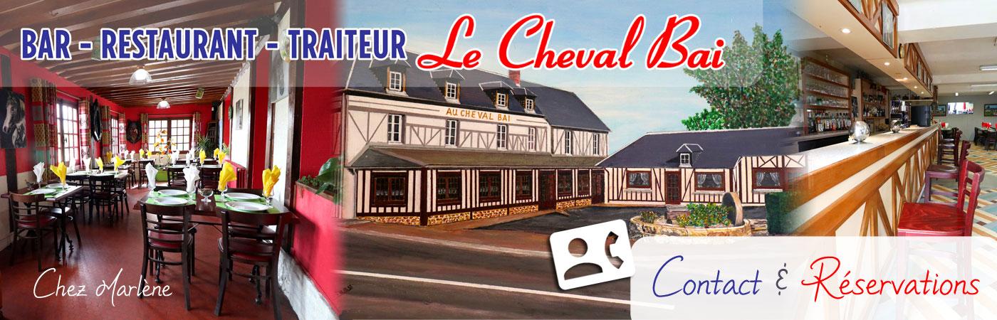 Restaurant Le Cheval Bai près de l'A28 entre : Monnai, Bernay, Alençon, L'Aigle, Sées, Vimoutiers, Gacé, Lisieux et Falaise. Routier, traditionnel, banquets, réceptions et réunions de travail.